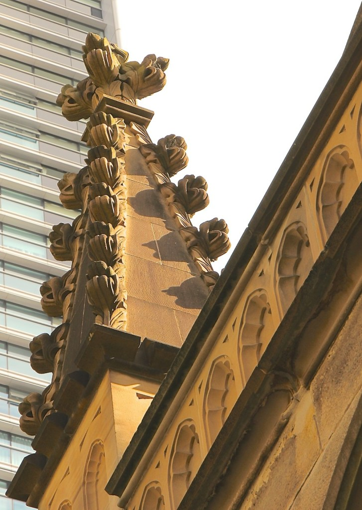 Stone ornaments church George Street|curlytraveller.com