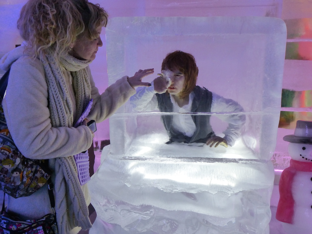 Frozen person in Ice Museum Seoul |curlytraveller.com