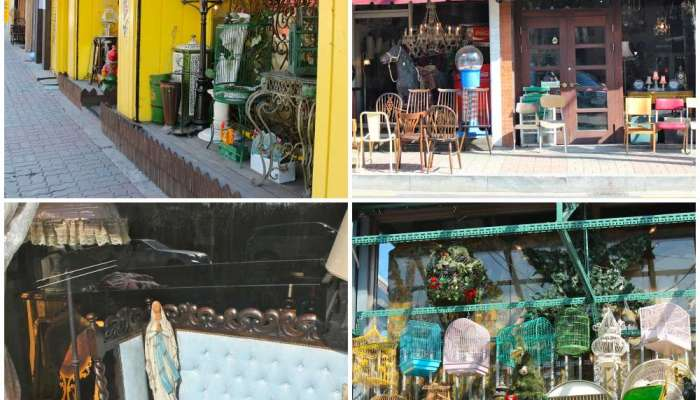 Western antiques in Itaewon Antique Furniture Street