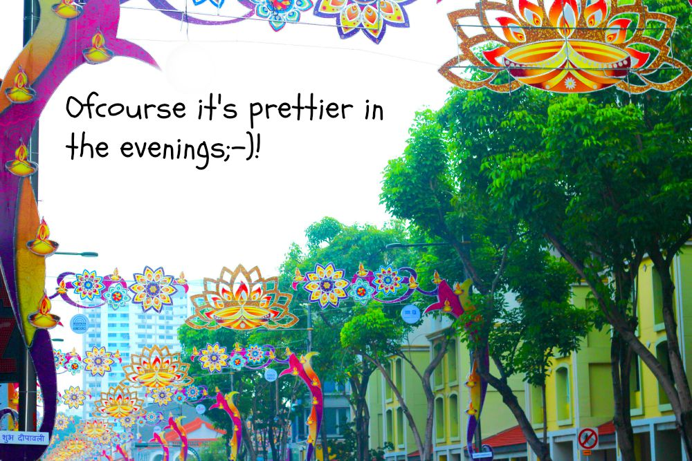 Street decorations in little India for Deepavali 2015 |curlytraveller.com