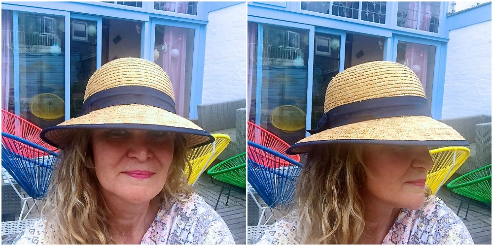 Woman wearing a classic straw hat |curlytraveller.com