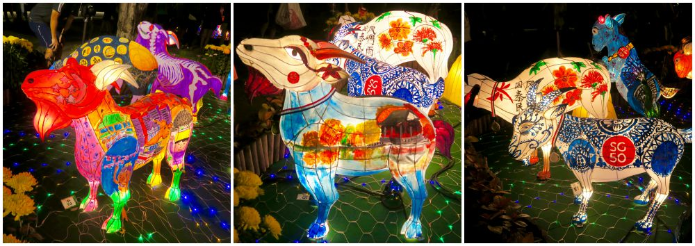 painted goats at gardens by the bay curlytravellercom - Garden By The Bay Exhibition