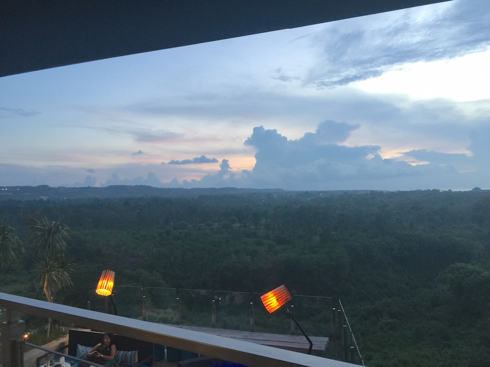 clouds as seen from bar Unique Bali |curlytraveller.com