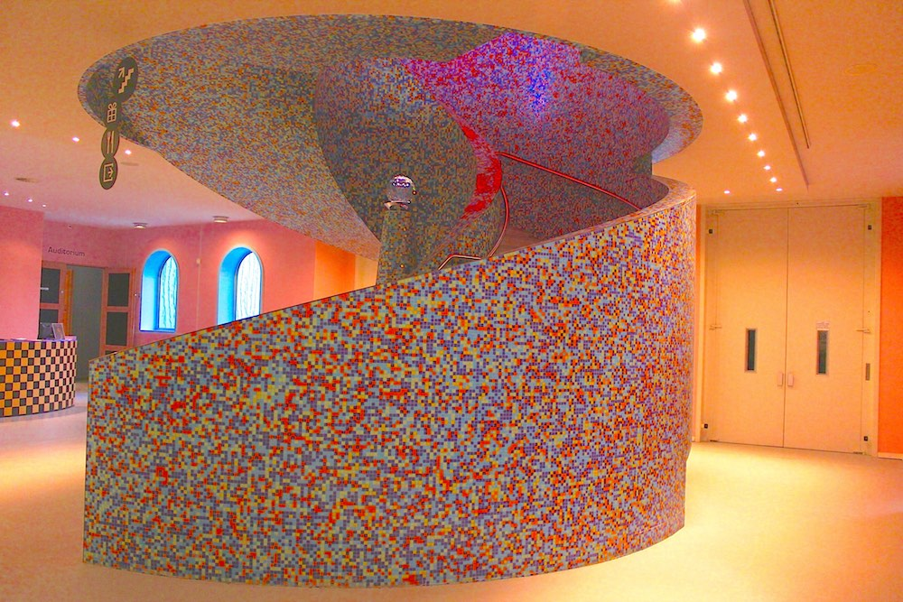 Round shapes in staircase Groningen Museum |curlytraveller.com