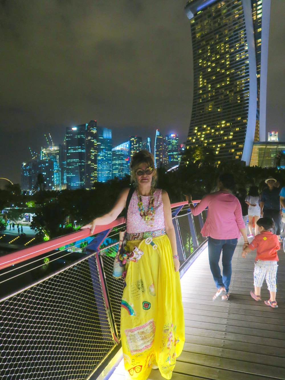 Woman on bridge in Gardens by the Bay Singapore |curlytraveller.com