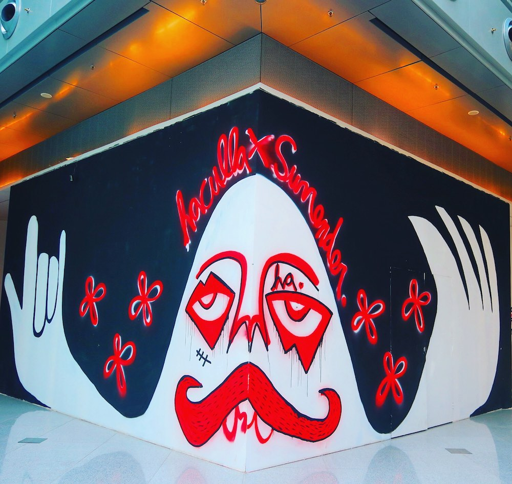 Mural in shopping mall on Orchard Singapore |curlytraveller.com