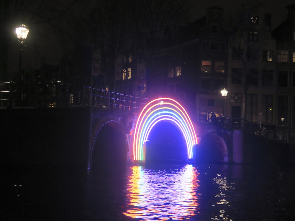 Bridge of the Rainbow at Amsterdam Light Festival 2016 |curlytraveller.com
