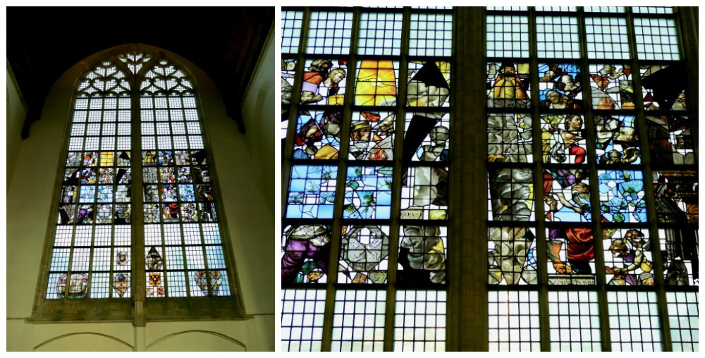 Stained glass windows in Oude Kerk |curlytraveller.com
