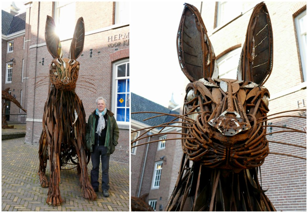 Hardware bunny sculpture at Hermitage Amsterdam |curlytraveller.com