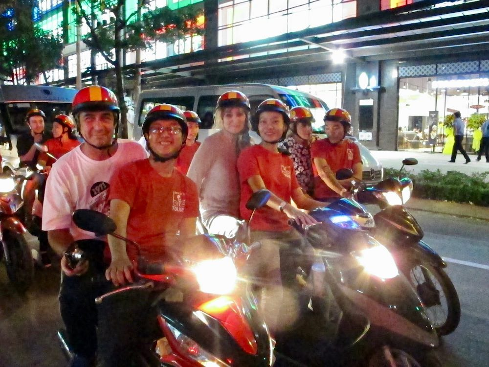 Back of the Bike tour group on bikes |curlytraveller.com