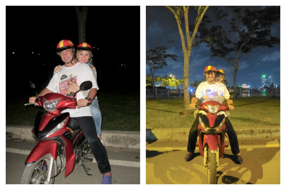 Couple on bike in Saigon |curlytraveller.com