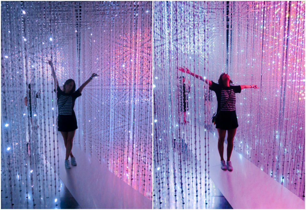 Young woman poses in Crystal Universe Singapore |curlytraveller.com