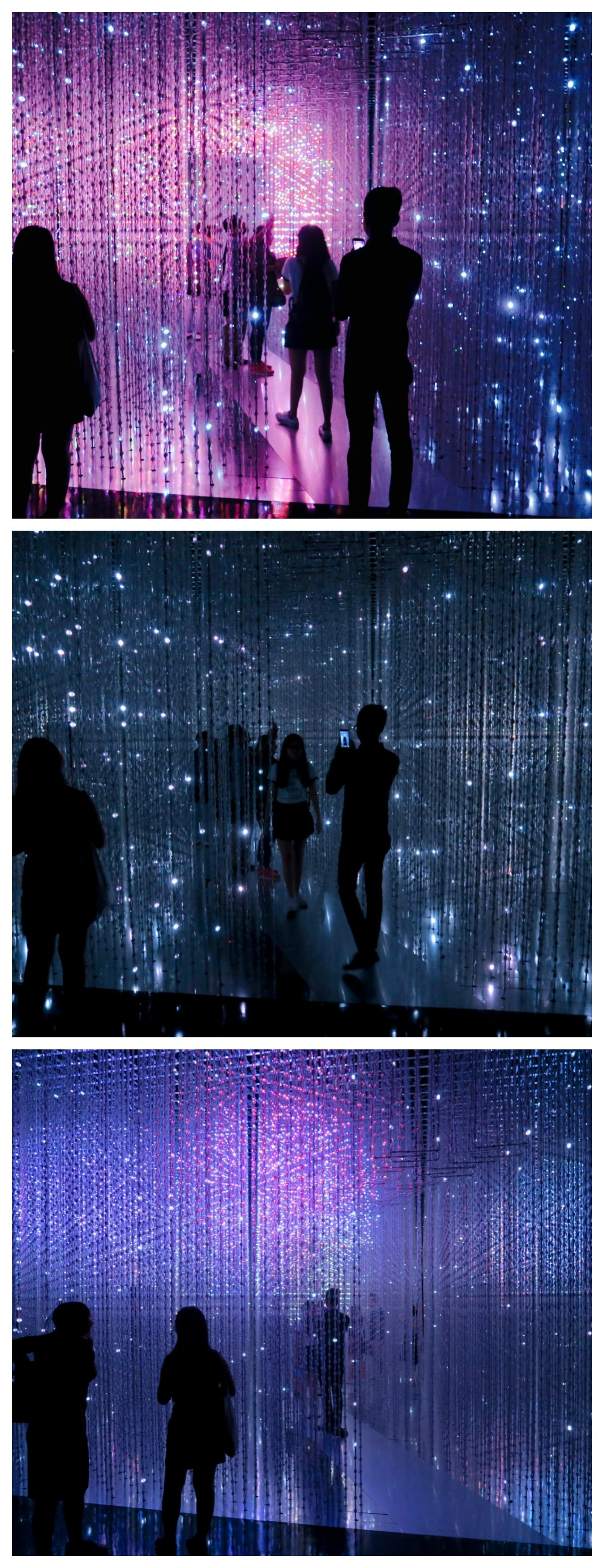 Group of visitors of Crystal Universe taking pictures |curlytraveller.com
