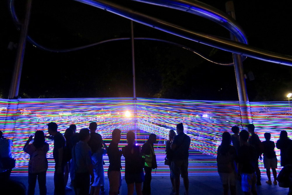 Horizontal Interference, art installation at iLight Marina Bay Singapore |curlytraveller.com