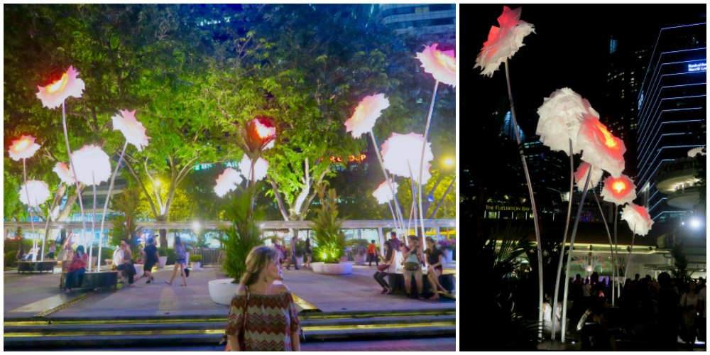 Gigantic peonies at iLight Marina Bay 2017 |curlytraveller.com