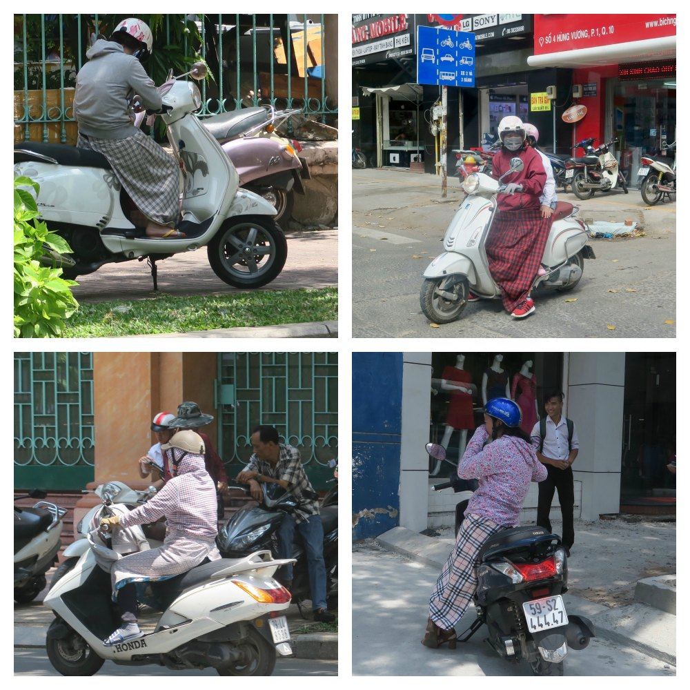 Women in Saigon on their bikes |curlytraveller.com