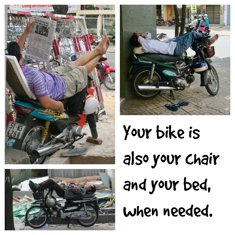Sleeping and reading on your bike |curlytraveller.com