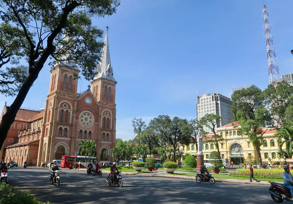 Notre Dame and Post Office in Saigon |curlytraveller.com