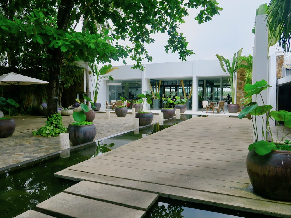 Patio in front of The Deck Saigon |curlytraveller.com