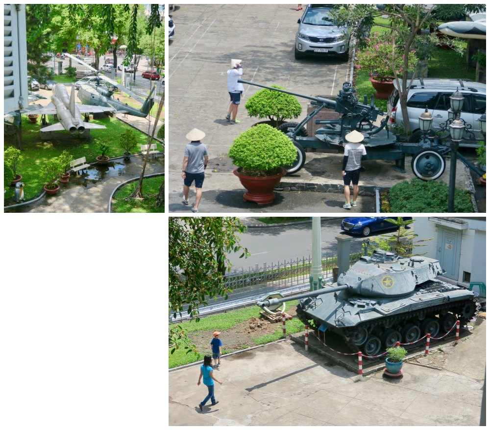 Tanks and jets at Ho Chi Minh City Museum |curlytraveller.com