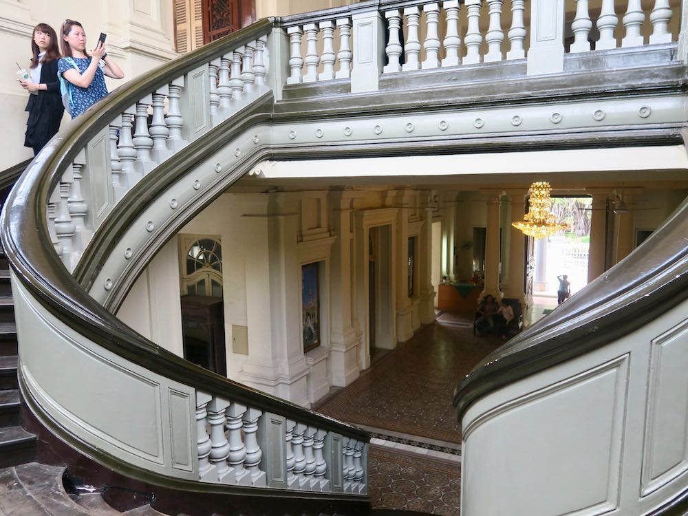 Staircase at Ho Chi Minh City Museum |curlytraveller.com