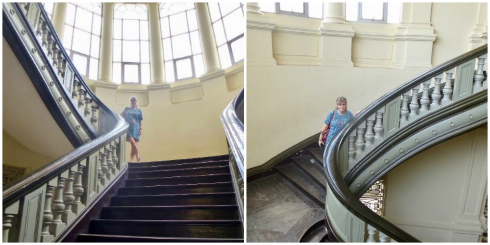 Winding staircases at Ho Chi Minh City Museum |curlytraveller.com