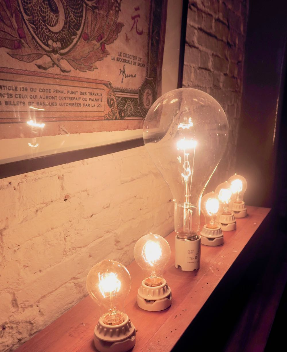 Lightbulbs for sale at L'Usine le Loi Saigon |curlytraveller.com