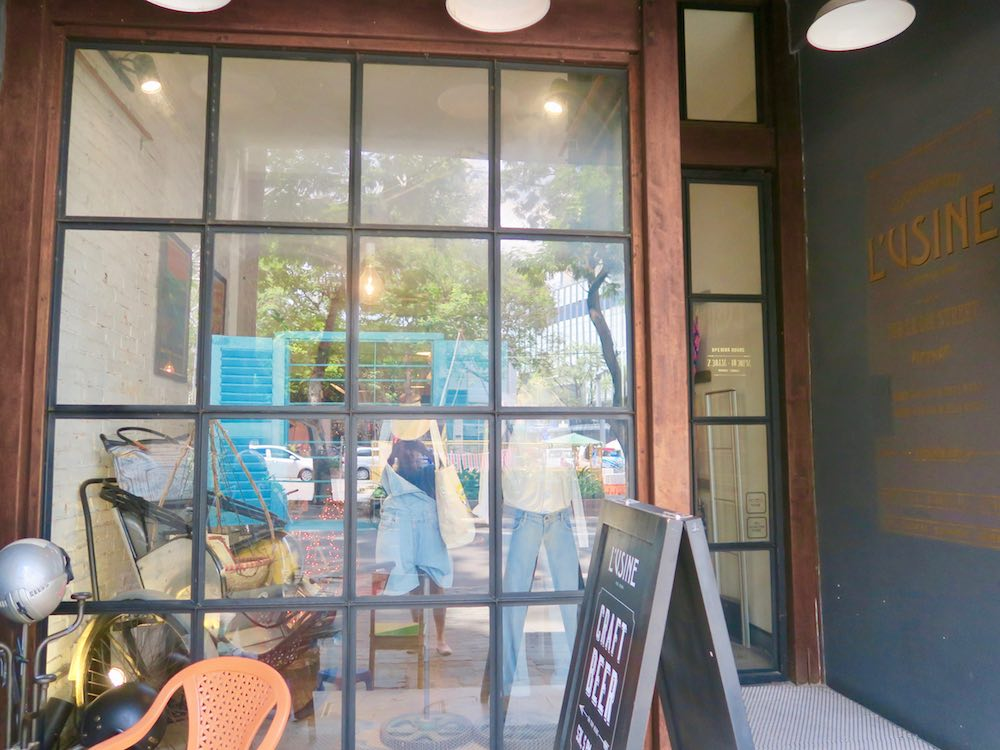 Entrance to L'Usine le Loi in Saigon |curlytraveller.com