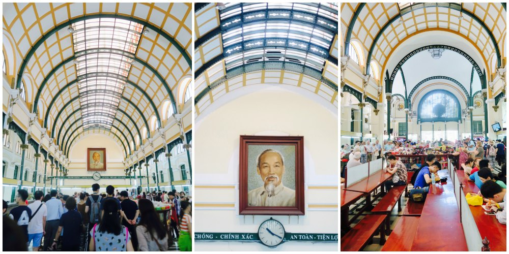 Inside Central Post Office in Saigon |curlytraveller.com