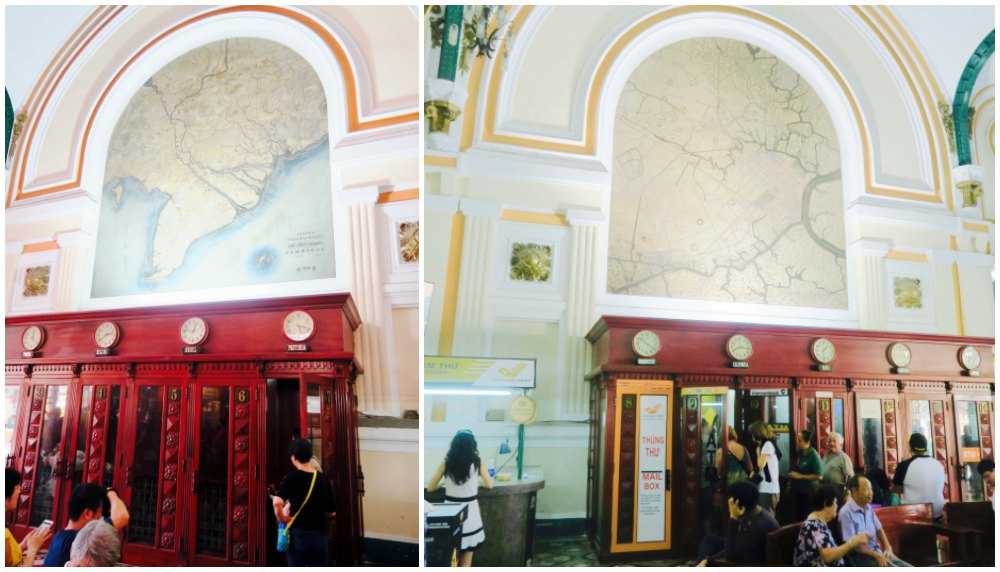 Vintage phone booths in Central Post Office Saigon |curlytraveller.com