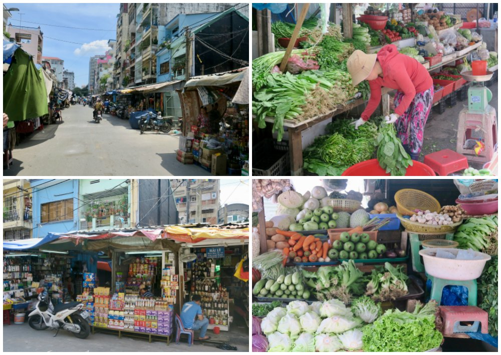 Markets and merchandise in the streets of Ho Chi Minh |curlytraveller.com
