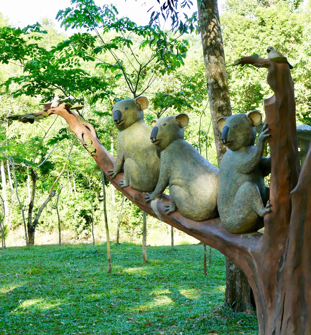 Koala sculptures on Phu Quoc |curlytraveller.com
