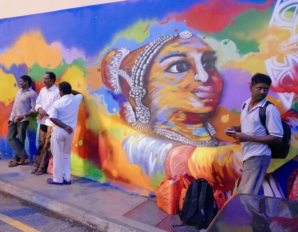large mural in Little India, Singapore curlytraveller.com