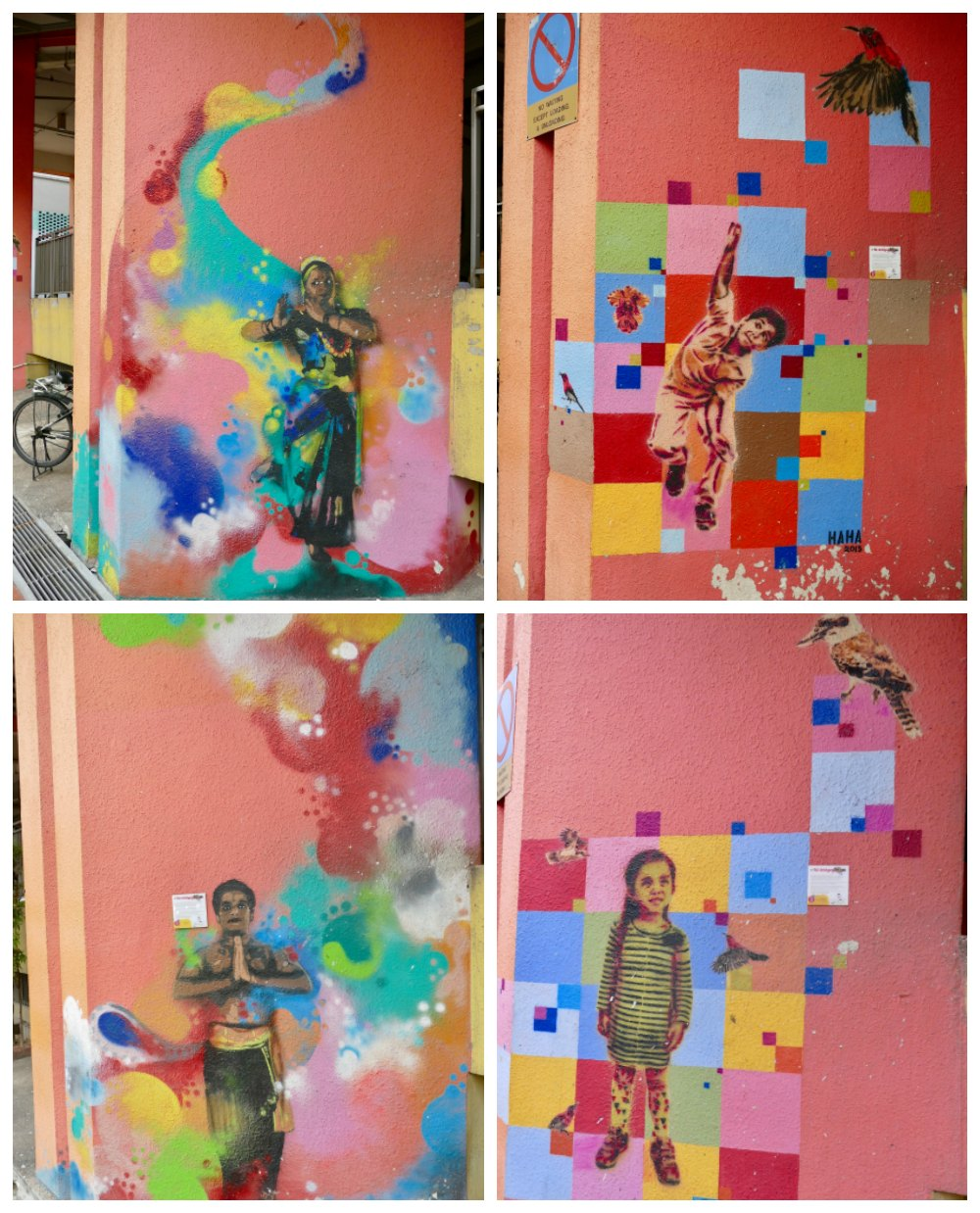 Stencil street art in Little India Singapore |curlytraveller.com