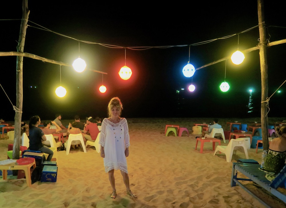 woman on the beach at Rory;s beach club Duong Dong |curlytraveller.com