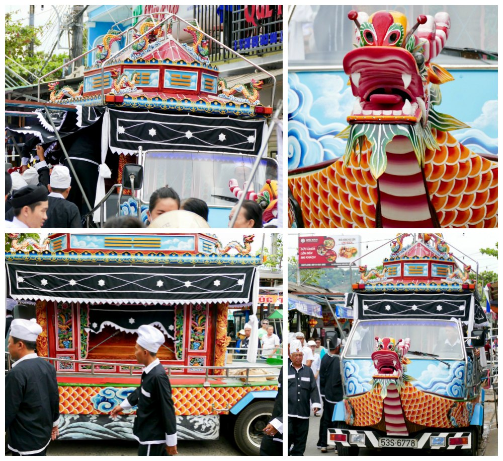Details of funeral carriage in Duong Dong Phu Quoc |curlytraveller.com