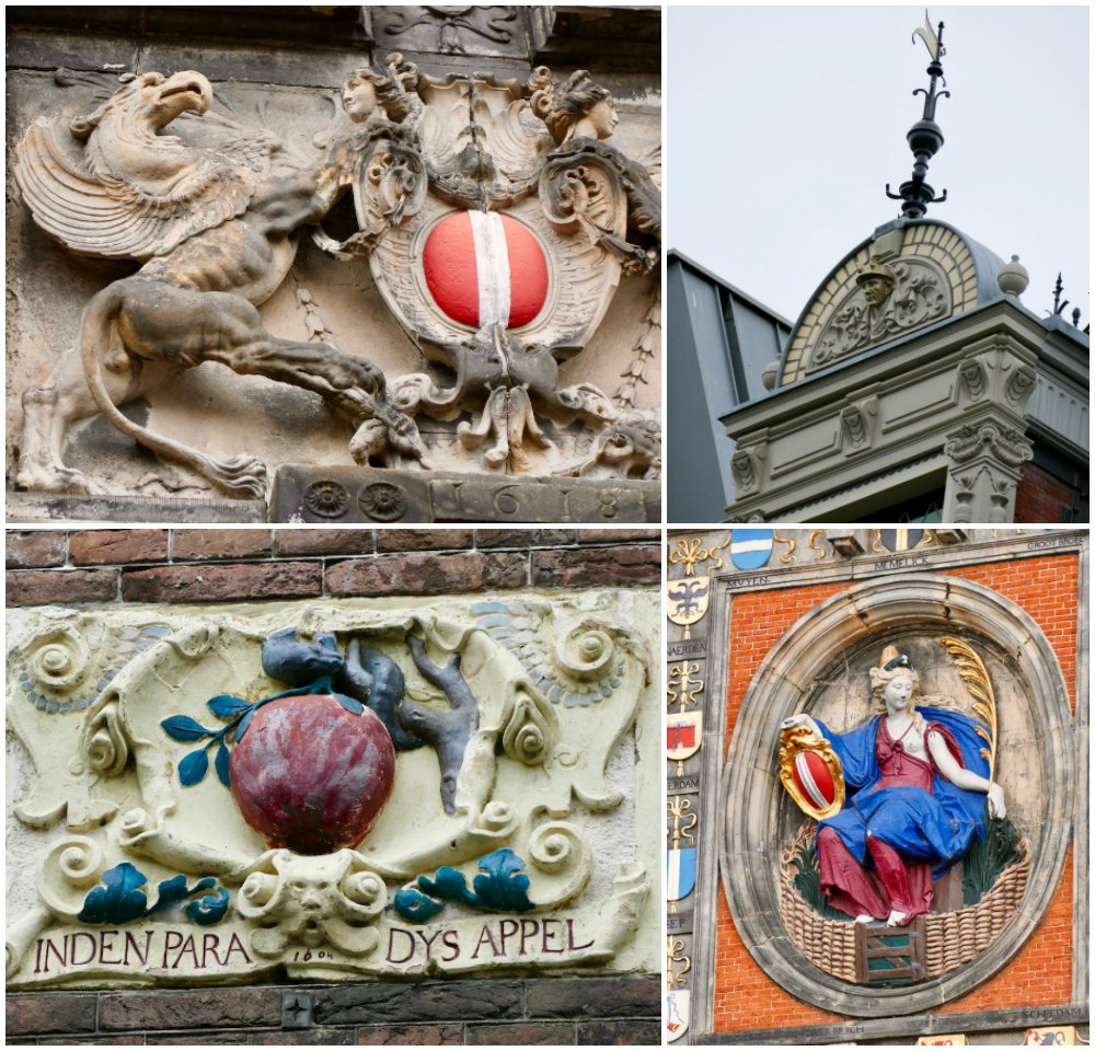 Details of ornamentation on monuments in Dordrecht |curlytraveller.com