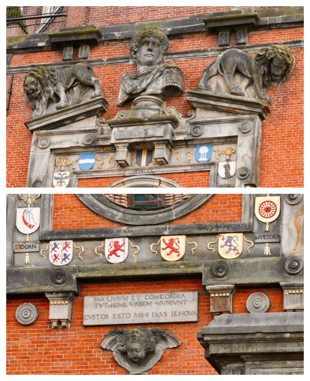 More ornaments on historic facade in Dordrecht |curlytraveller.com