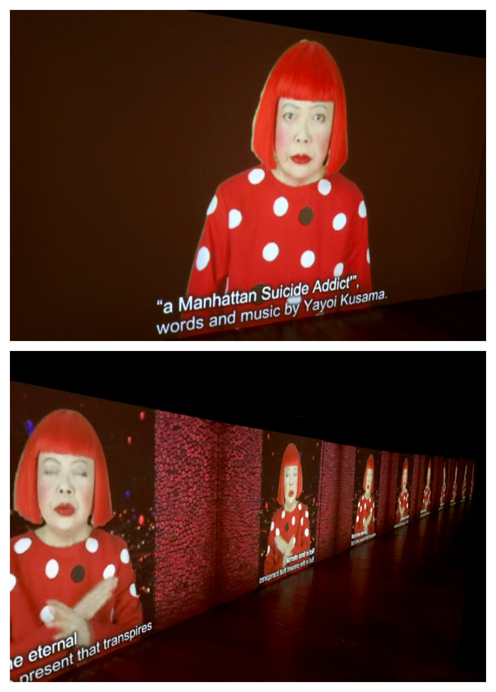 Stills from a video about and by Yayoi Kusama |curlytraveller.com