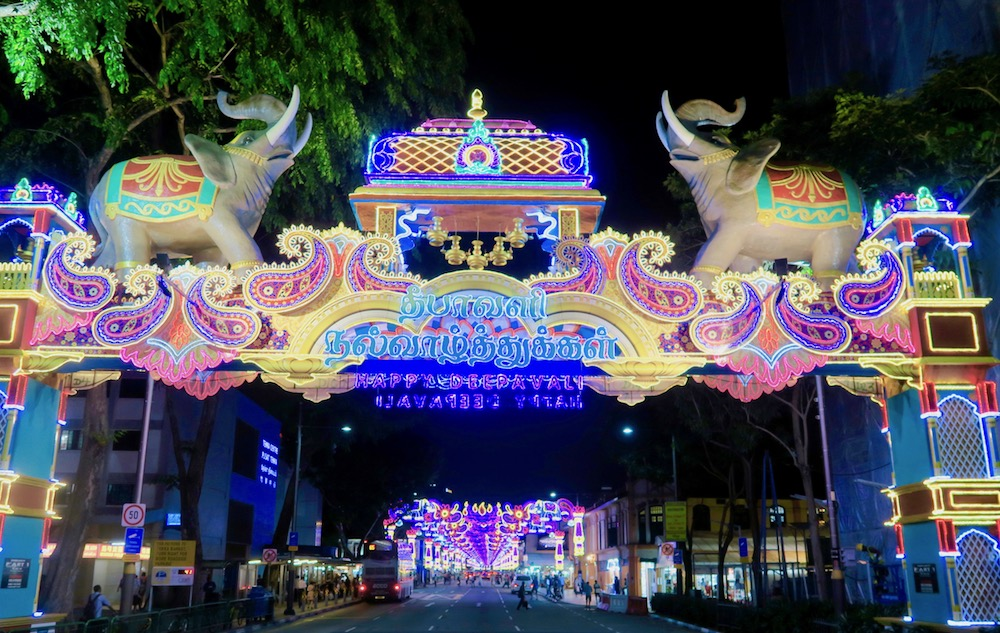 Entrance gate to Little India Singapore during Deepavali |curlytraveller.com