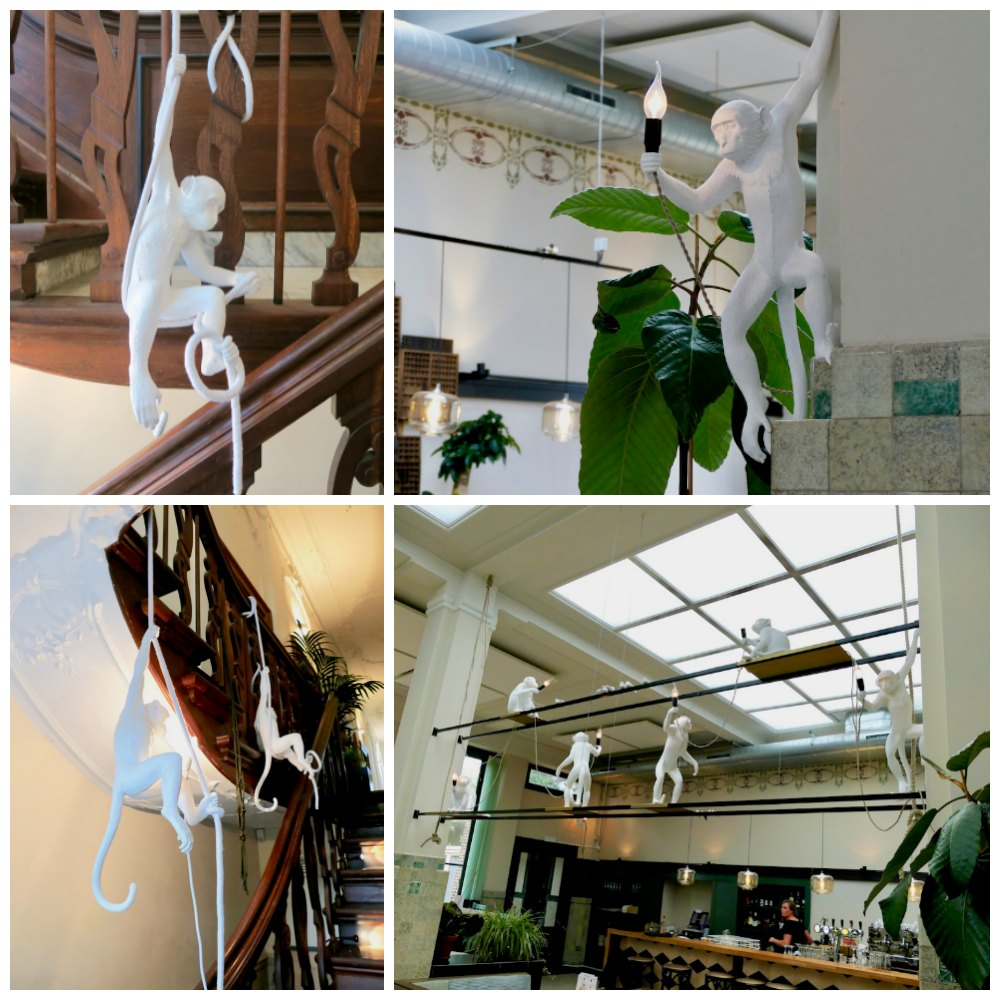 Lots of Seletti monkey lamps in Huis Roodenburch Dordrecht |curlytraveller.com