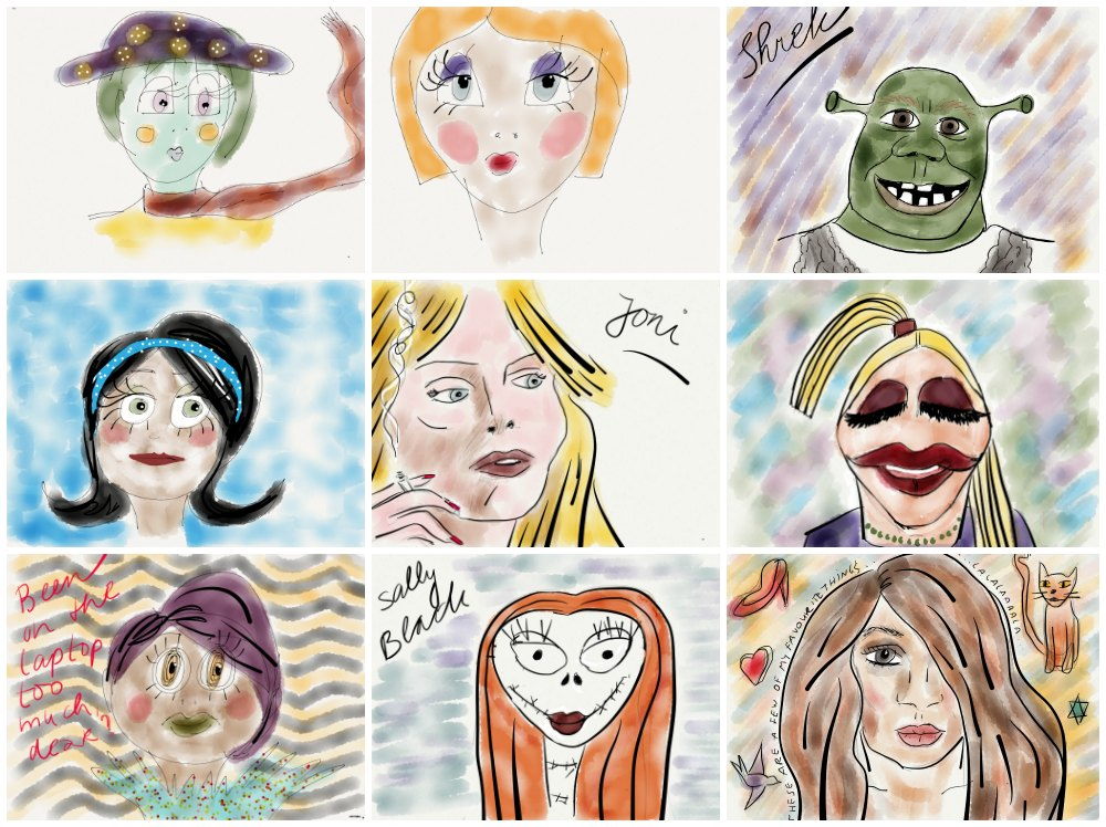 Mix of sketches made with the app Paper53 |curlytraveller.com