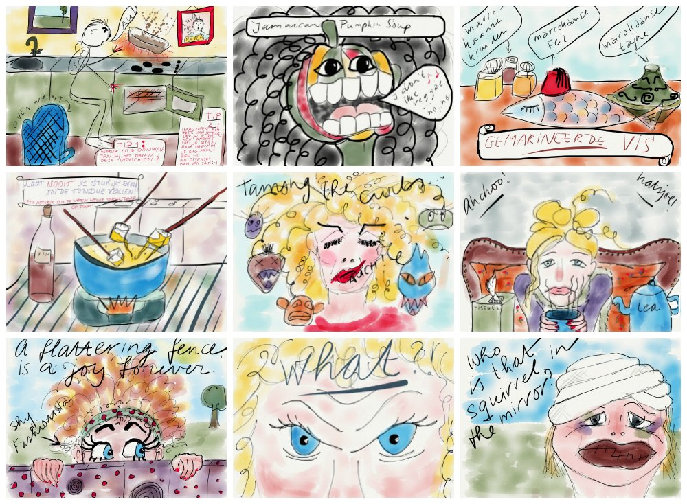 All sorts of sketches made with Paper53 |curlytraveller.com
