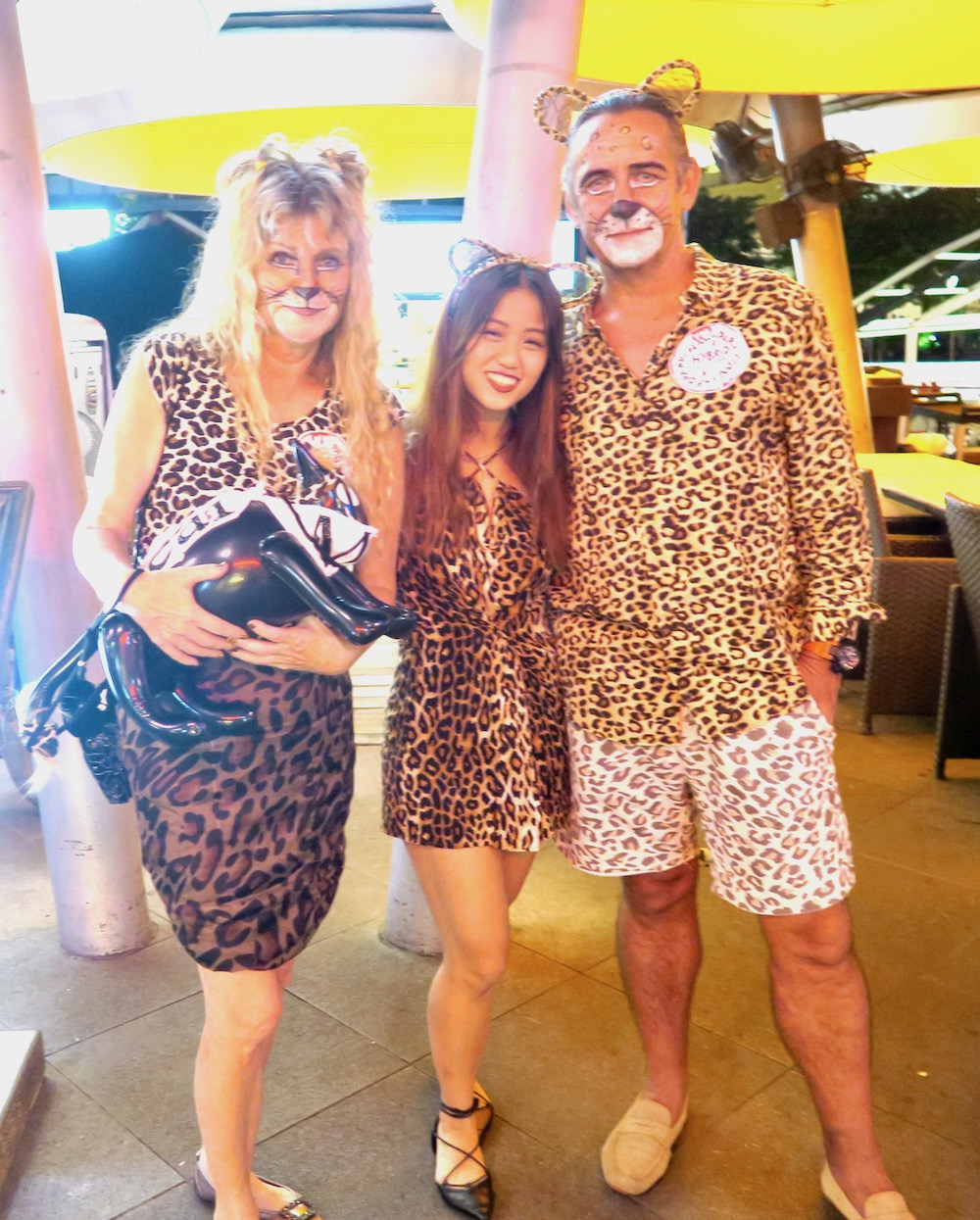Three big cats at Halloween at Clarke Quay Singapore |curlytraveller.com