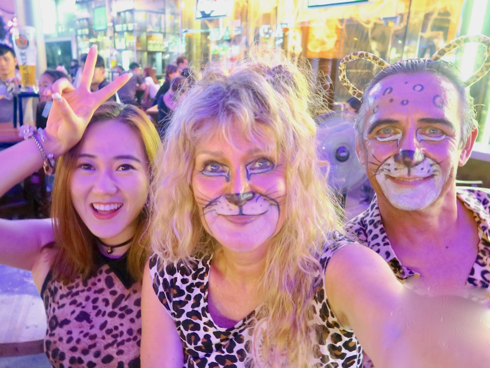 Three Halloween cats at Clarke Quay Singapore |curlytraveller.com