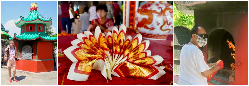 Burning paper offerings at Kusu Island |curlytraveller.com