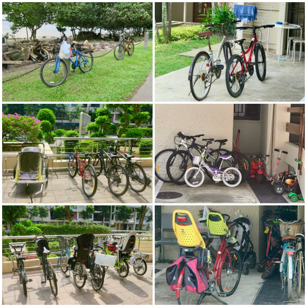 There are a lot of bikes in Singapore |curlytraveller.com