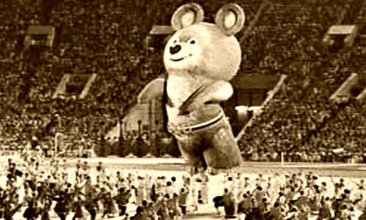 35. bear Misha at the Olympics in Moscow , Olympics