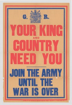 first world war king and country