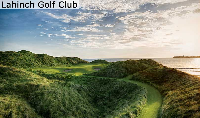 Hyperlink to the Lahinch Golf Club web page